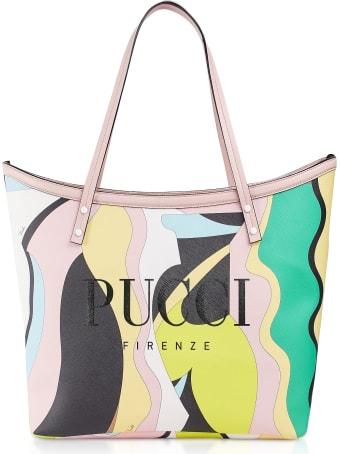 Emilio Pucci Two Tone Canvas Large Tote Bag