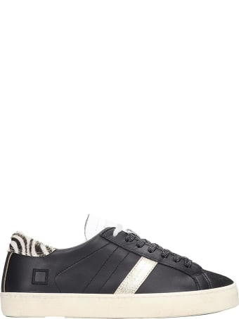 D.A.T.E. Hill Low Sneakers In Black Leather