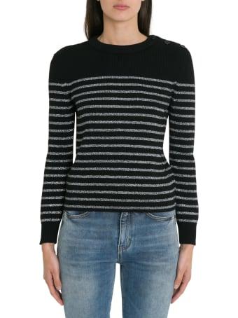Saint Laurent Silver Striped Sweater