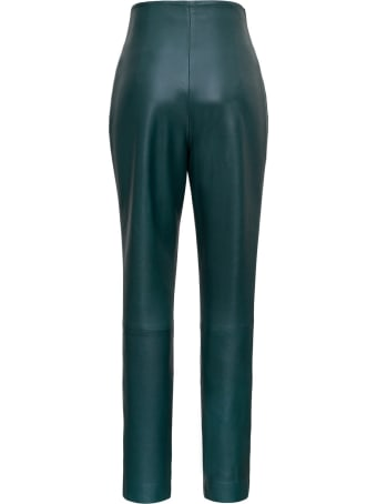 Alberta Ferretti High Waisted Leather Pants