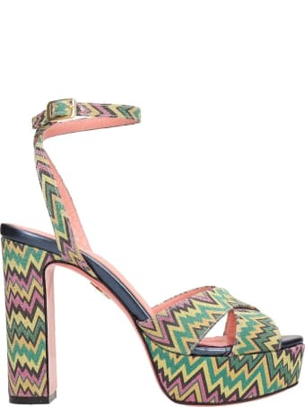 JF London Multicolor Leather Sandals