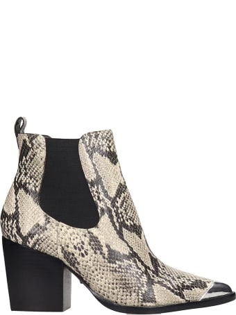Schutz Ankle Boots In Animalier Leather
