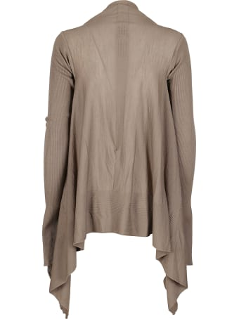 Rick Owens Brown Virgin Wool Cardigan