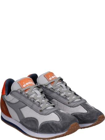 Diadora Equipe H Dirty Sneakers In Grey Nylon