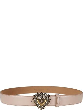 Dolce & Gabbana Heart Devotion Leather Belt