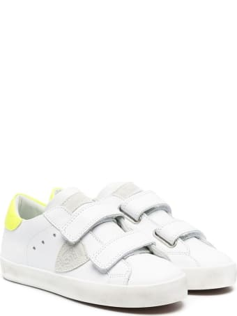 Philippe Model Paris Sportif Low Sneakers With Fluo Detail