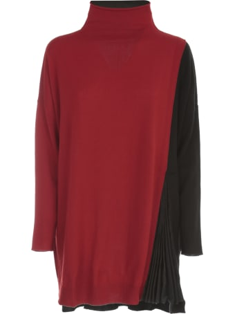 PierAntonioGaspari Oversized Pleated High Neck Sweater