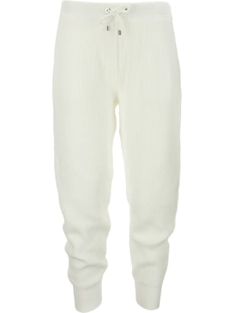 """Brunello Cucinelli English Rib Cotton Knit Trousers With """"shiny Tab Pocket"""""""