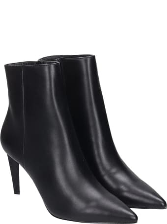Kendall + Kylie Zoe High Heels Ankle Boots In Black Leather
