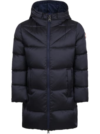 Colmar Blue Jacket For Girl With Logo