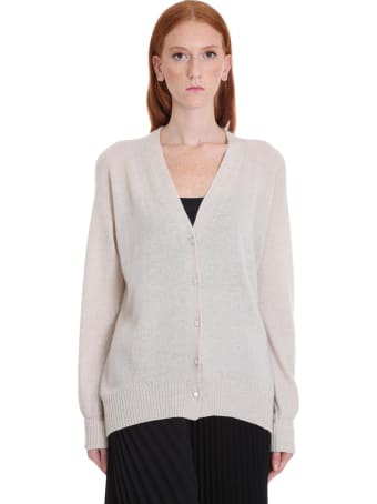 Maison Flaneur Knitwear In White Cashmere