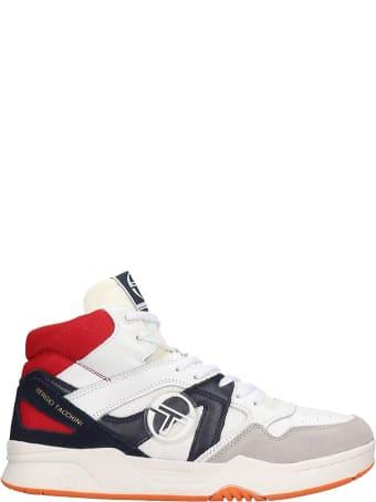Sergio Tacchini Gareth Mid Sneakers In White Leather