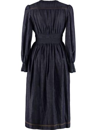 Fendi Denim Midi Dress