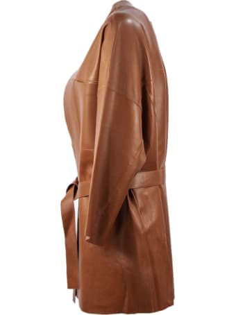 S.W.O.R.D 6.6.44 Brown Leather Jacket