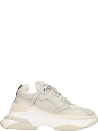 Elena Iachi Sneakers In White Nubuck