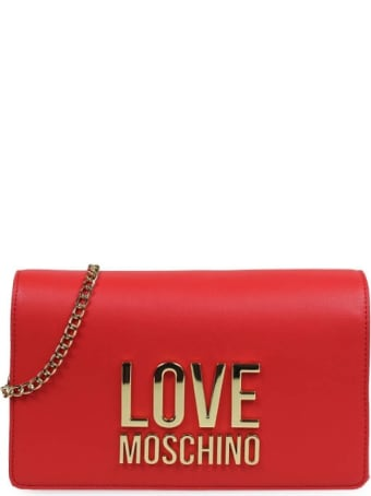 Love Moschino Red Clutch With Logo