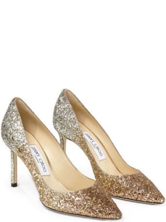 Jimmy Choo Romy Triple Degrade Glitter Fabric