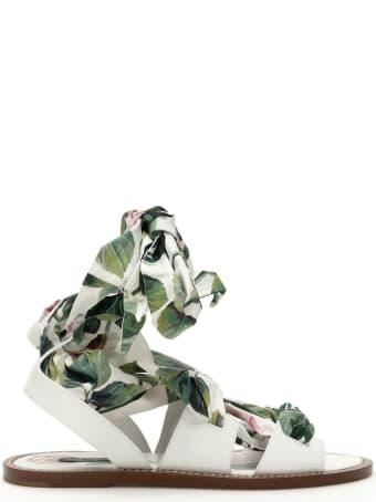 Dolce & Gabbana Rose Portofino Flat Sandals