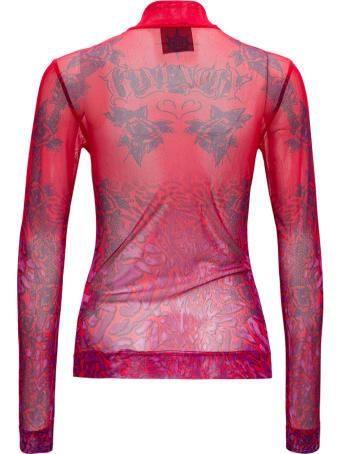 Givenchy Transparent Printed Long Sleeves T-shirt