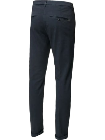Dondup Blue Cotton Chino Pants