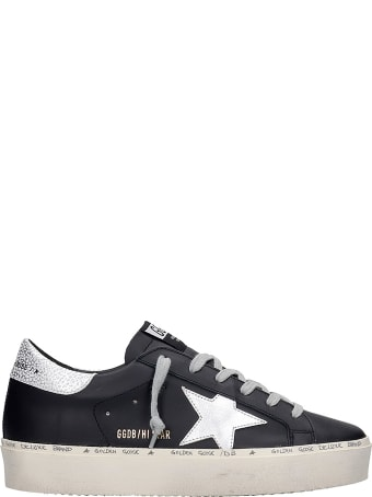 Golden Goose Hi Star Sneakers In Black Leather