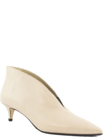 Fabio Rusconi Beige Leather Ankle Boots