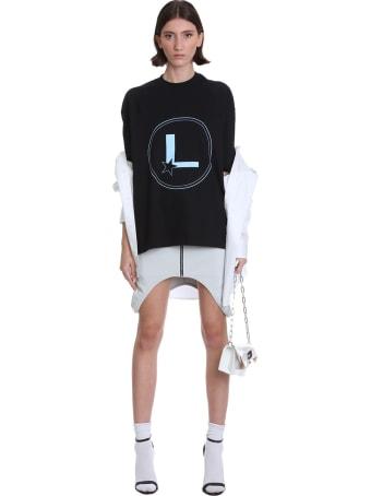 Lourdes Skirt In Grey Cotton And Nylon
