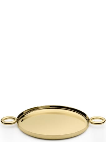 Ghidini 1961 Double O Tray Polished Brass