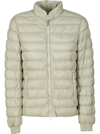 Woolrich Buttoned Collar Zipped Padded Jacket