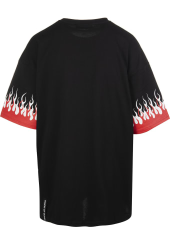 "Vision of Super Black ""double Flames"" Man T-shirt"