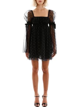 STAUD Polka Dot Tulle Peri Mini Dress