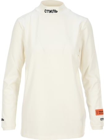 HERON PRESTON Embroidered Logo Turtleneck