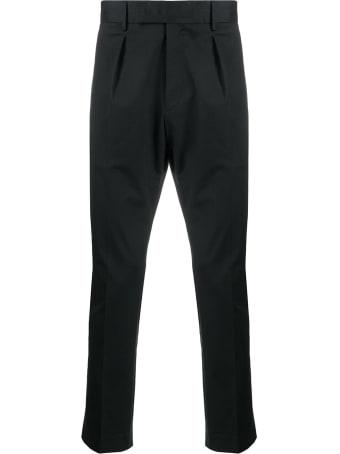 PT01 Five Pockets Black Cotton Trousers