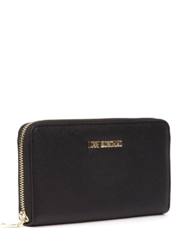 Love Moschino Love Moschino Black Synthetic Fiber Wallet