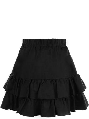 Federica Tosi Black Cotton And Silk Blend Skirt