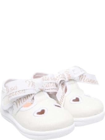 Monnalisa Glitter White Ballet Flats