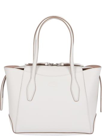 Tod's White Leather Aos Tote Bag