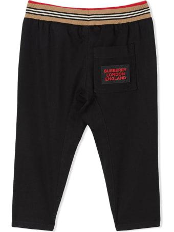Burberry Black Cotton Trousers