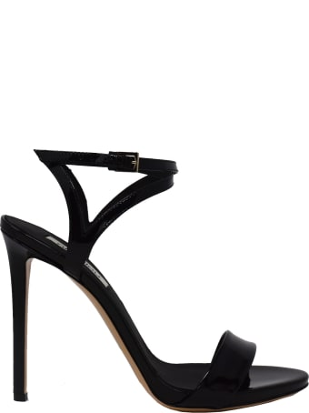 Ninalilou Black Patent Micol Sandals