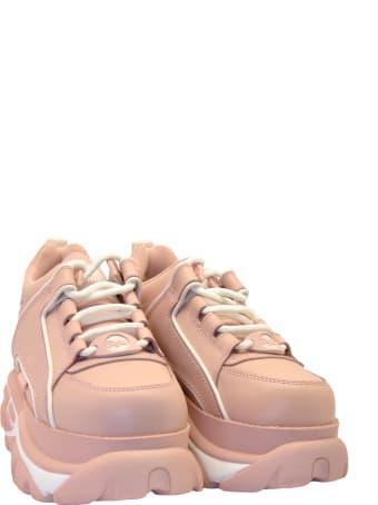 Buffalo Sneakers Alta Pelle Rosa