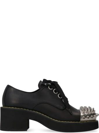 Miu Miu Leather Lace-up Shoes