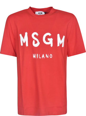 MSGM Chest Logo Print T-shirt