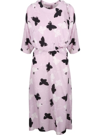 RED Valentino Butterflies Midi Dress