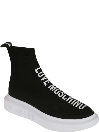 Love Moschino Embroidered Sock Sneakers