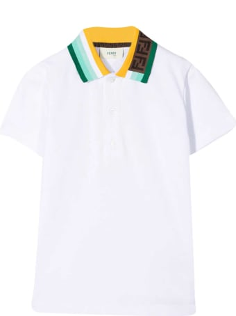 Fendi White Teen Polo Shirt