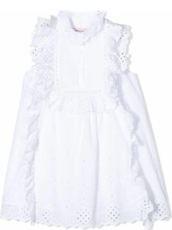 Alberta Ferretti White Cotton Dress