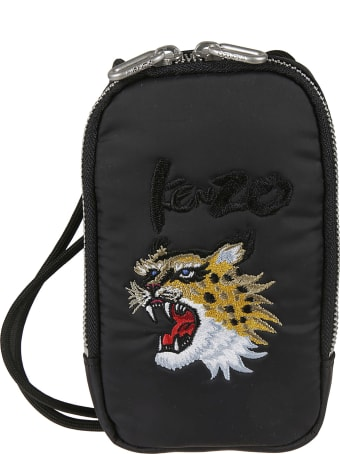 Kenzo Tiger Embroidered Phone Holder