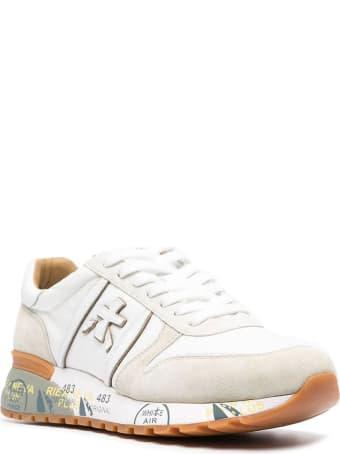 Premiata White Lander Sneakers
