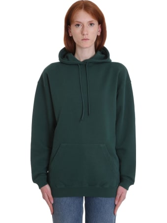 Balenciaga Sweatshirt In Green Cotton
