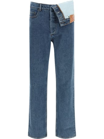 Y/Project Jeans With Asymmetrical Waist